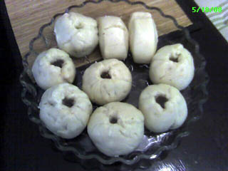 Chinese steamed bread with red bean paste